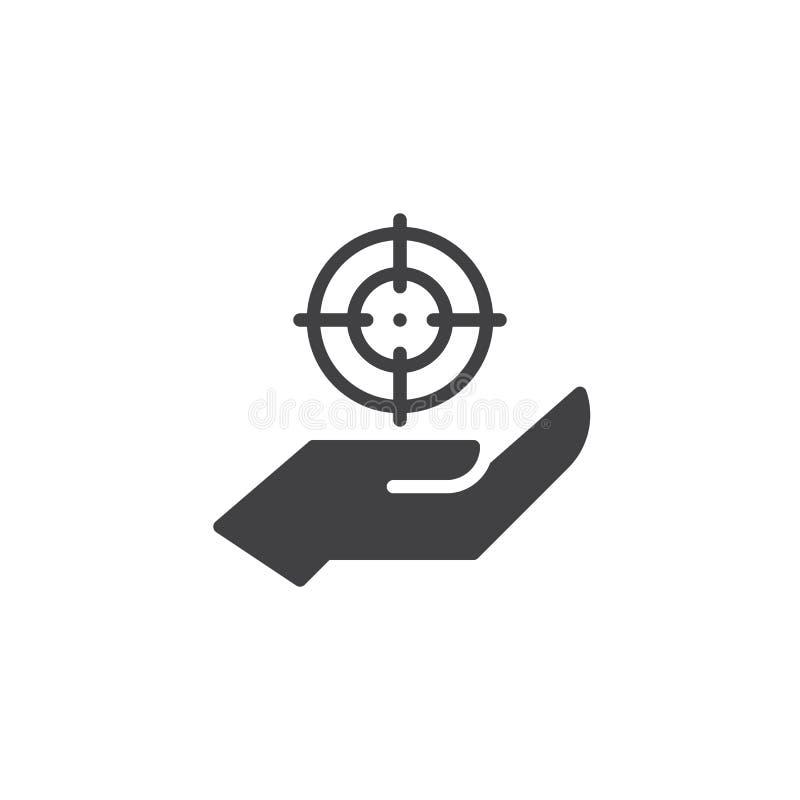 Hand- und Zielvektorikone lizenzfreie abbildung