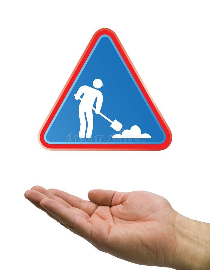 Download Hand Under Construction White Stock Illustration - Image: 7291829