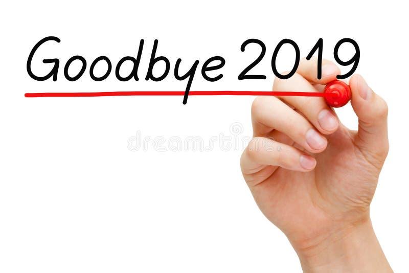 Goodbye Year 2019 Handwritten Concept royalty free stock image