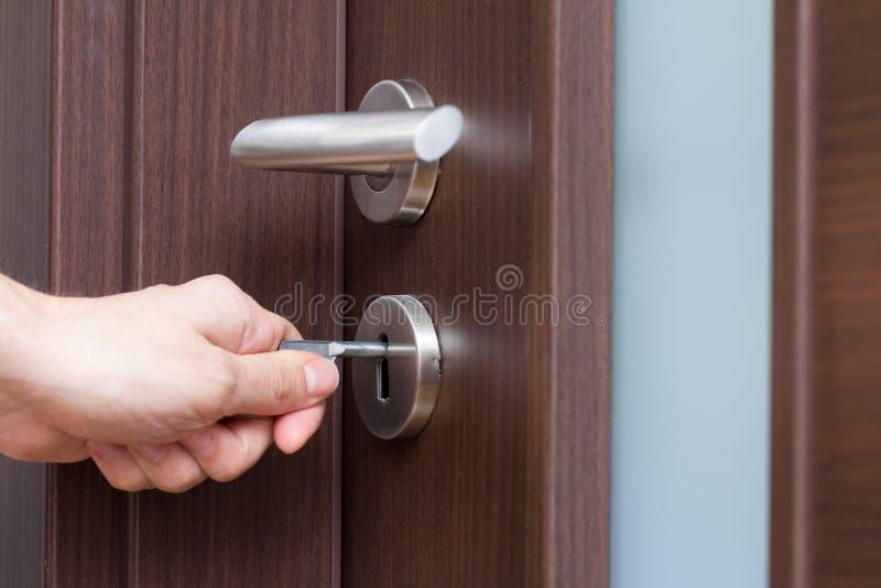 Download Hand unlocking house door stock image. Image of person - 83958677 & Hand unlocking house door stock image. Image of person - 83958677