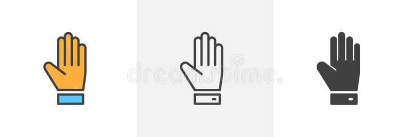 Hand upp symbol vektor illustrationer