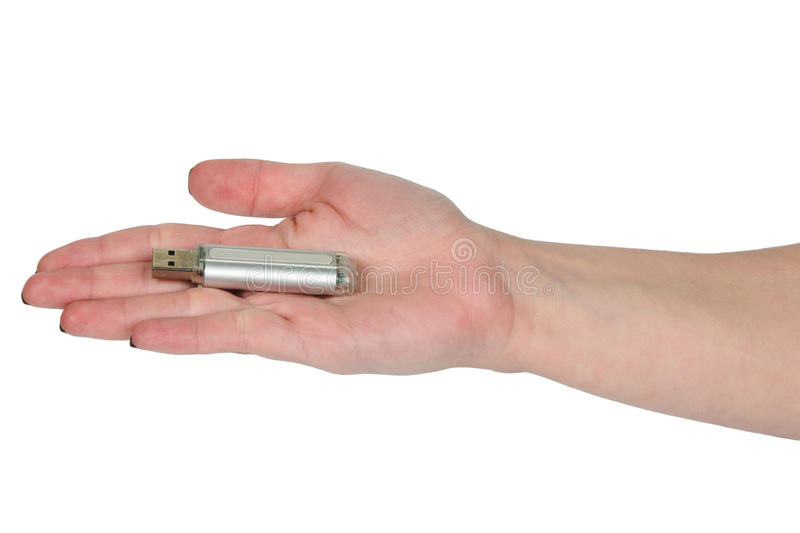 Hand With Usb Stick Royalty Free Stock Images