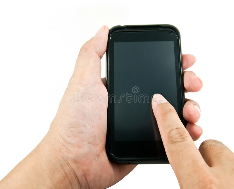 Download Hand using smart phone stock image. Image of telecommunication - 21471063