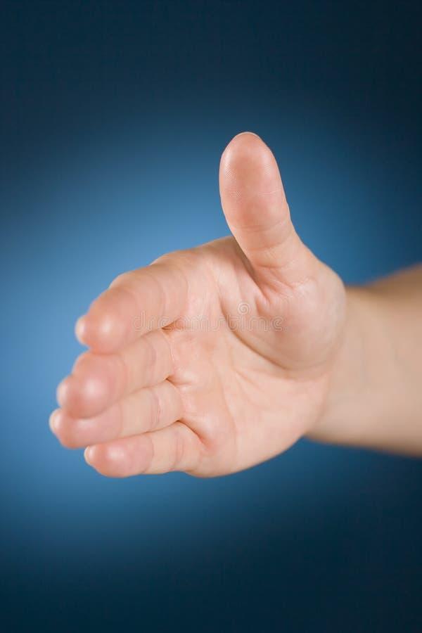 hand välkomnanden royaltyfri bild