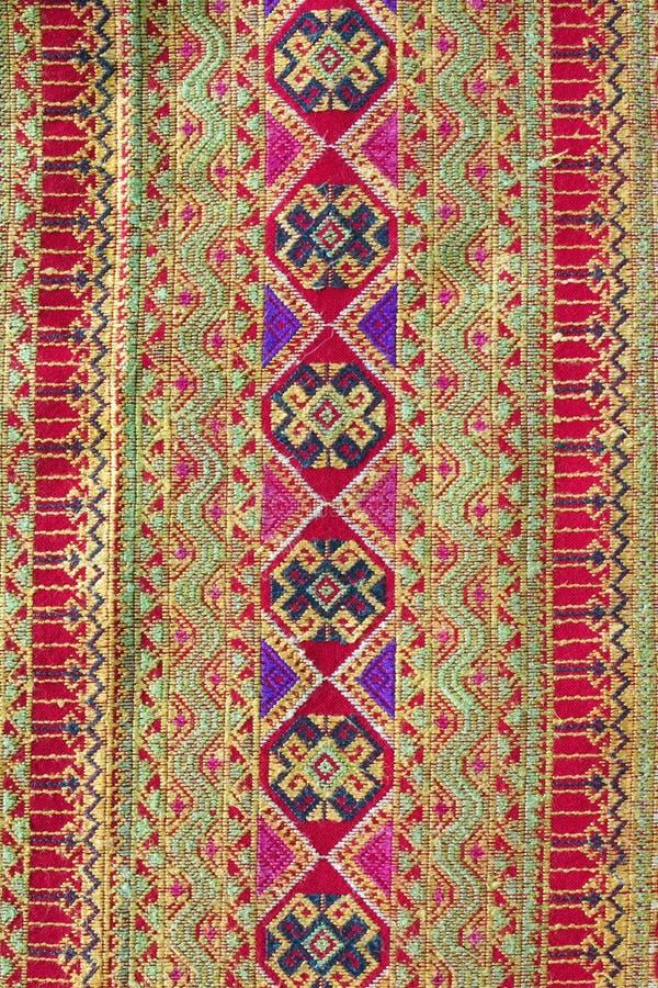 Hand-vävde saronger arkivfoton