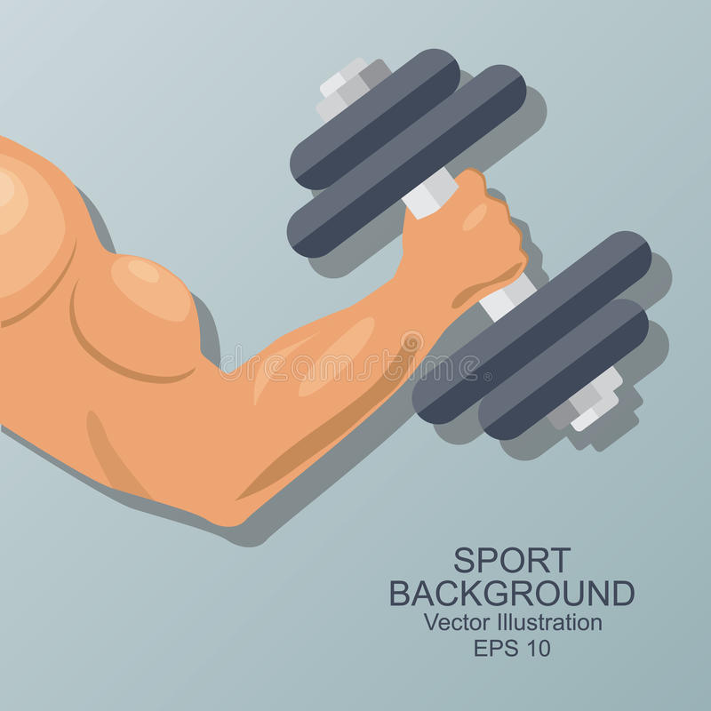 Hand van bodybuilder stock illustratie