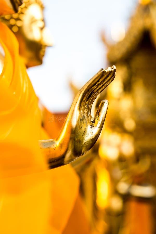 Hand van Boedha statuel wat Phra die chiangmai Thaila van Doi Suthep stock foto