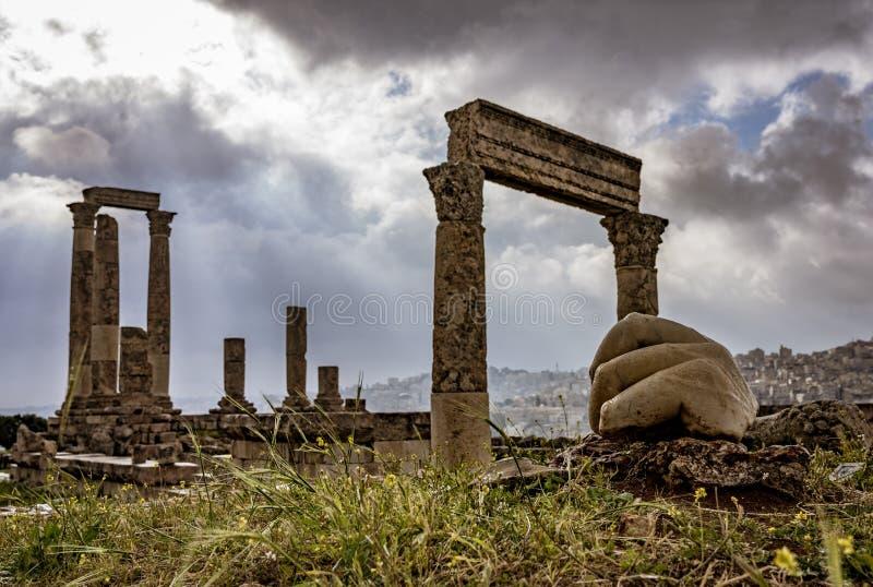 Hand van Hercules in Amman, Jordani? royalty-vrije stock fotografie