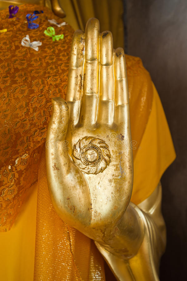 Hand van het standbeeld van Boedha royalty-vrije stock foto's