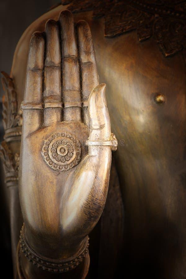 Hand van het standbeeld van Boedha in Thailand royalty-vrije stock foto