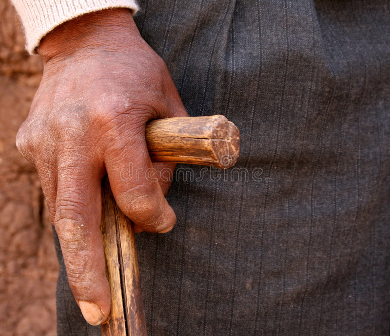 Hand van Landbouwer stock foto's