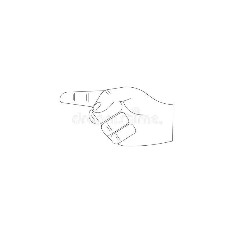 Hand vector icon, forefinger icon. Vector illustration on white background vector illustration