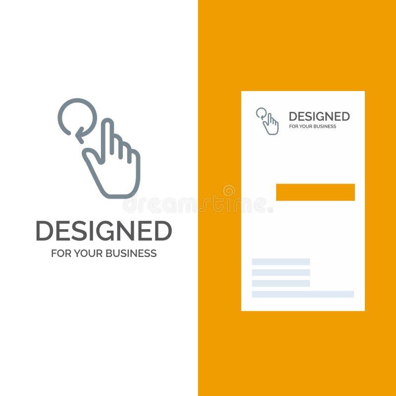 Hand, Vinger, Gebaren, Herladen Grey Logo Design en Visitekaartjemalplaatje vector illustratie