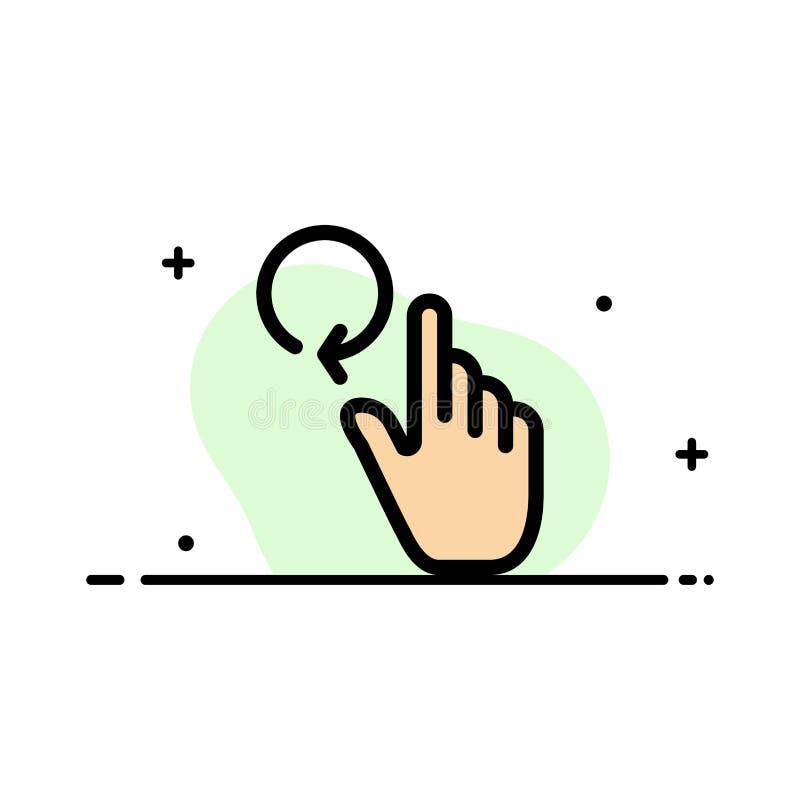 Hand, Vinger, Gebaren, Malplaatje Herladen van de Bedrijfs het Vlakke Lijn Gevulde Pictogram Vectorbanner stock illustratie