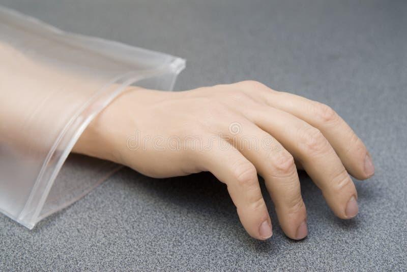 Hand vom Plastik lizenzfreies stockfoto