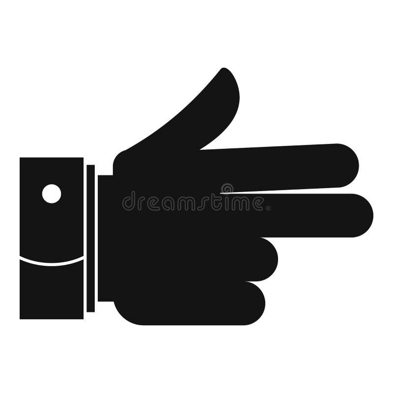 Hand voorwaarts pictogram, eenvoudige zwarte stijl vector illustratie