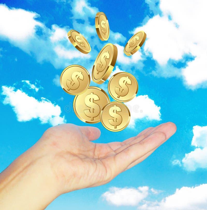 Hand wünschen Geld stockfoto