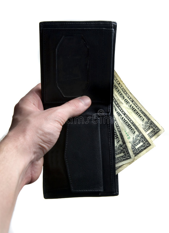 Download Hand, wallet, dollars stock photo. Image of black, offer - 3764710