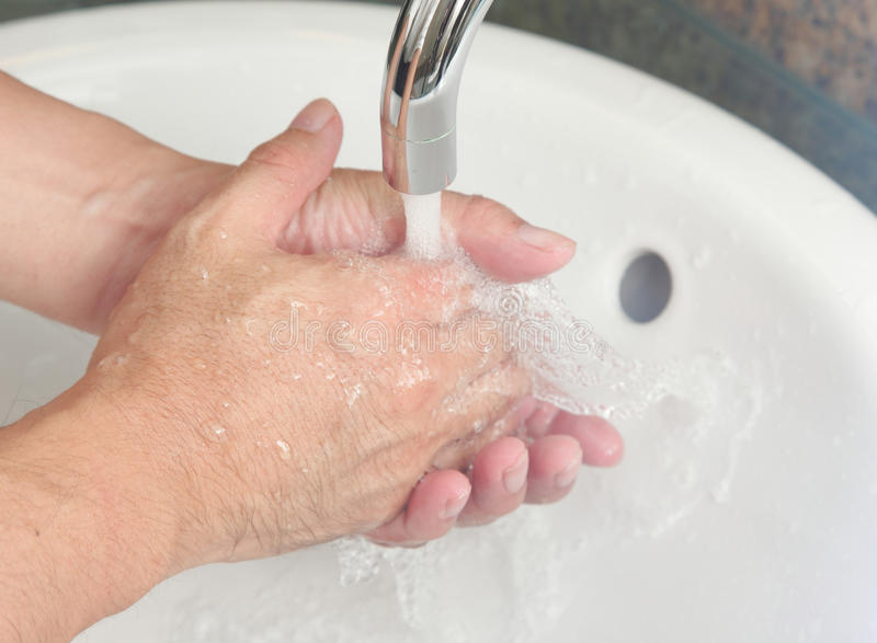 Hand wash stock image
