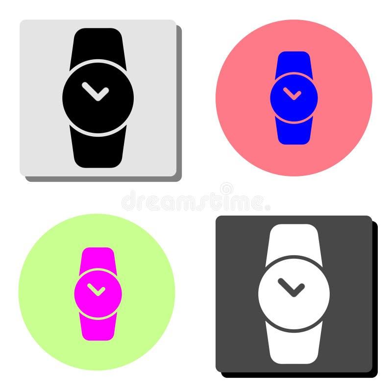 hand watch clock. flat vector icon vector illustration