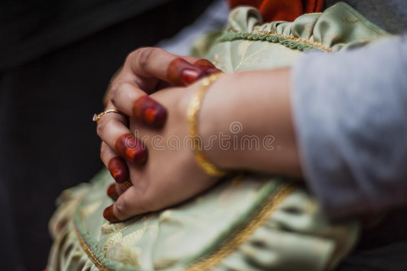 Download Hand wearing Henna stock photo. Image of part, bride - 35929946