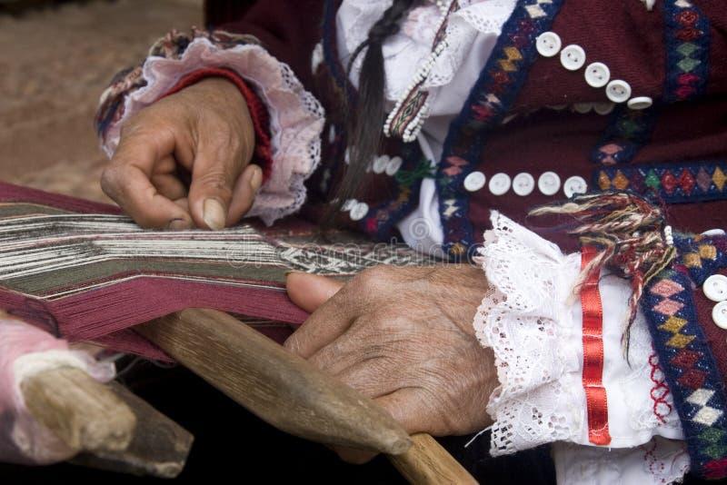 Hand weaving stock photos