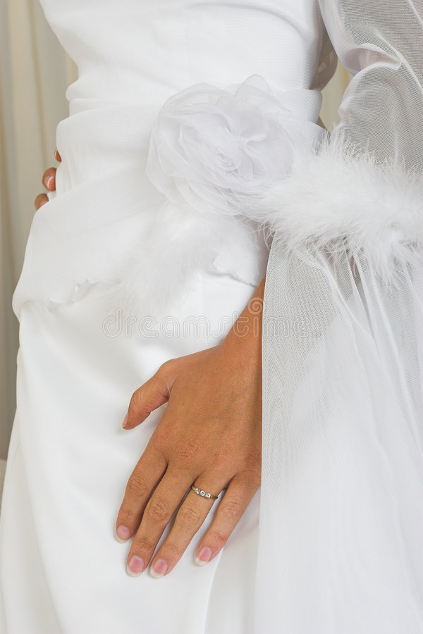 Download Hand on wedding gown stock image. Image of hand, fashion - 115621