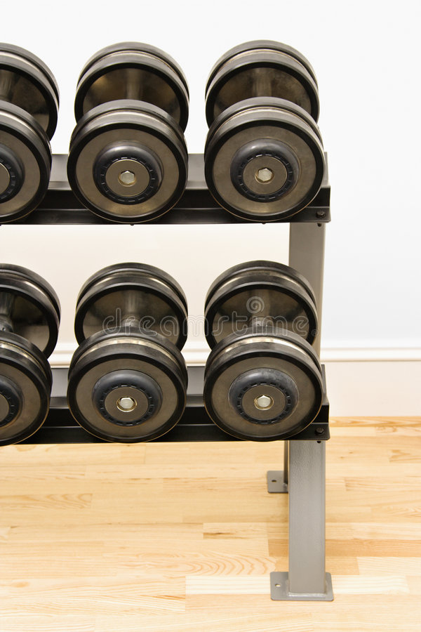 Download Hand weights stock image. Image of barbell, club, selective - 4415275