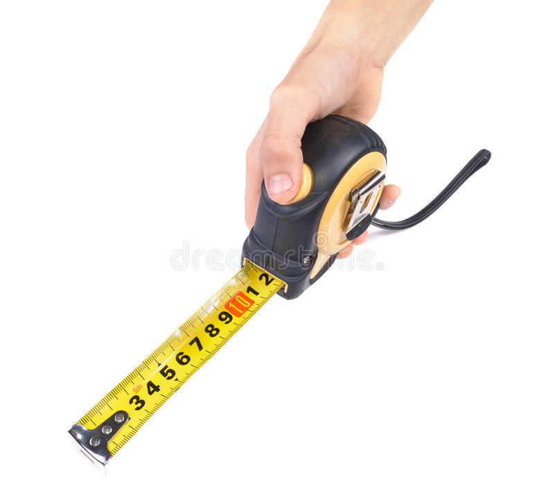 Free Hand With A Measuring Tape Stock Image - 22135281