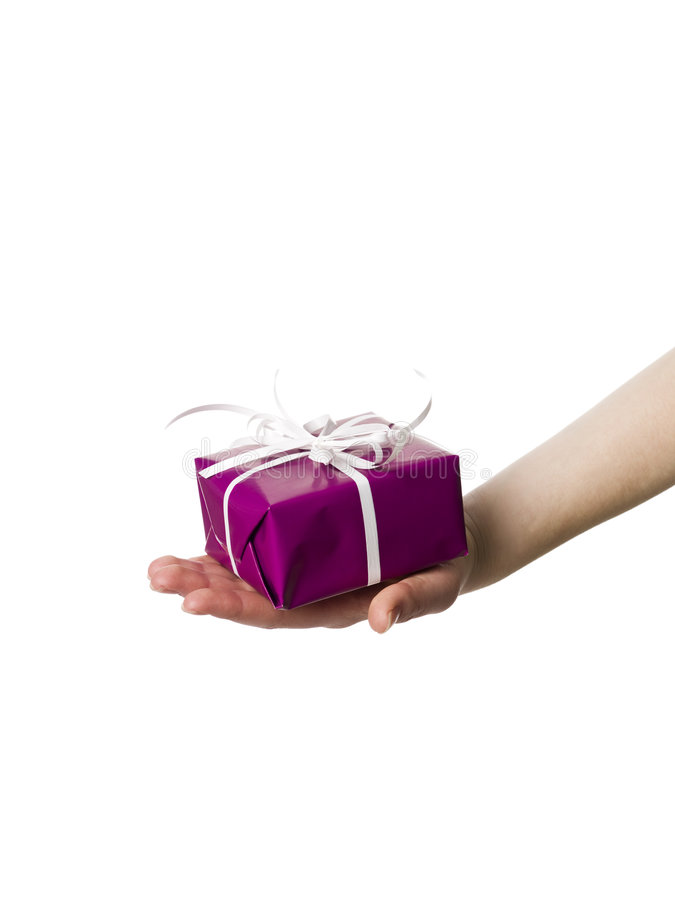 Free Hand With A Present Stock Image - 9224891