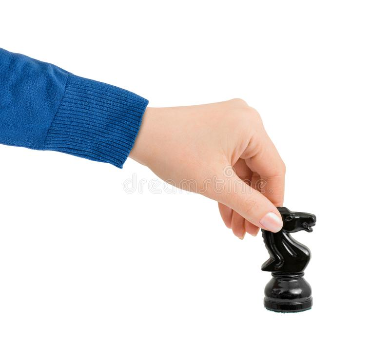 Free Hand With Chess Knight Royalty Free Stock Images - 165114309