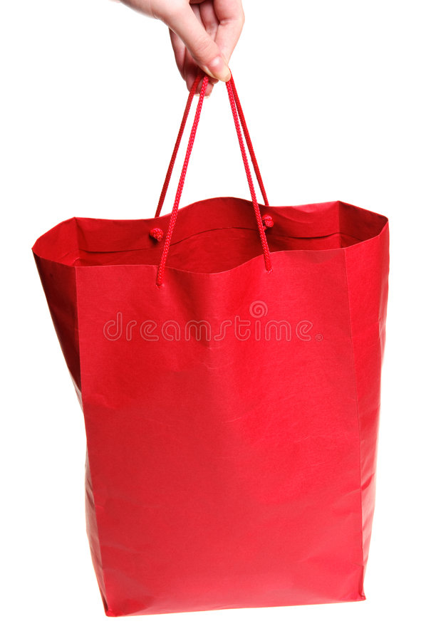 Free Hand With Red Bag Stock Images - 7192864