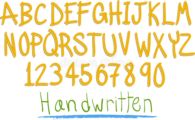 Download Hand witten fun alphabet stock vector. Illustration of collection - 23936643