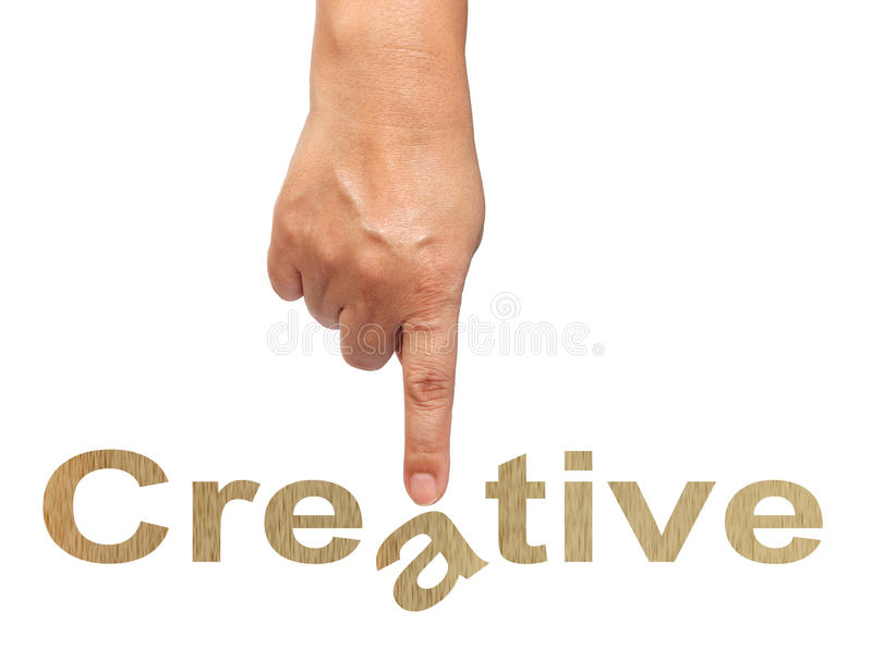 Download Hand and word stock image. Image of background, creative - 21464337