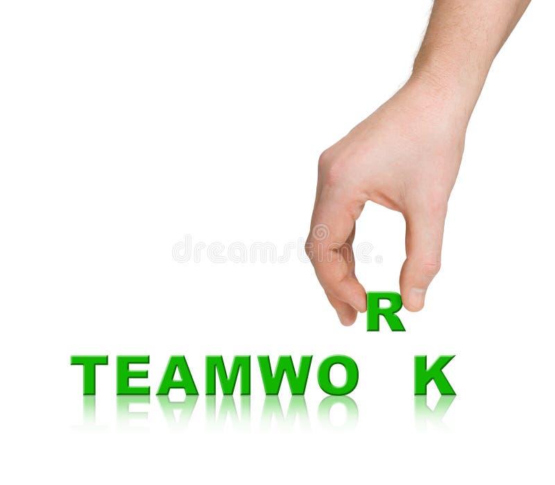 Hand and word Teamwork stock photography