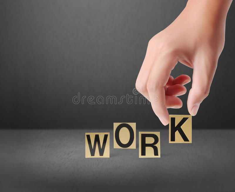 Download Hand and word work stock illustration. Image of connection - 30609161