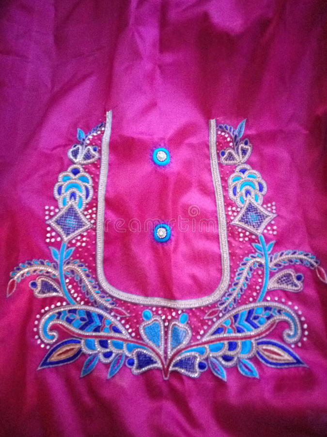 Hand work blouses royalty free stock images