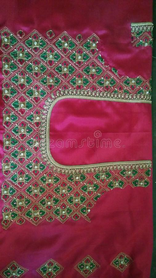 Hand work blouses royalty free stock image