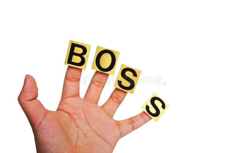 Hand, work hard for boss royalty free stock photography