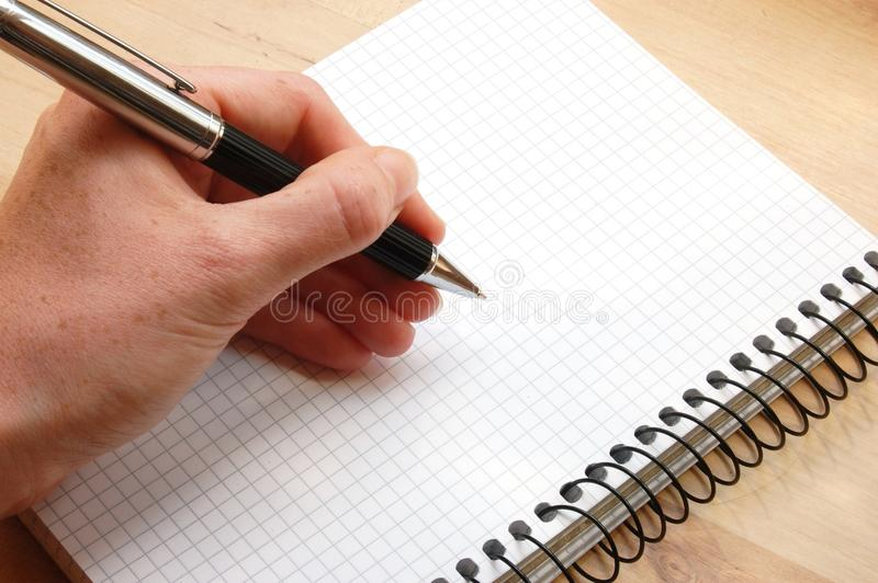 Download Hand write a message stock image. Image of memo, document - 10021481