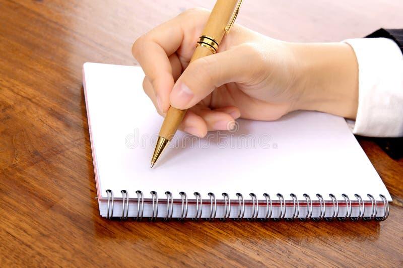 Hand Write Something royalty free stock photo