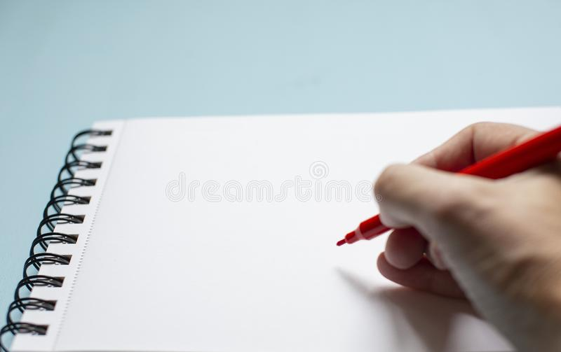 Hand writes the text royalty free stock images