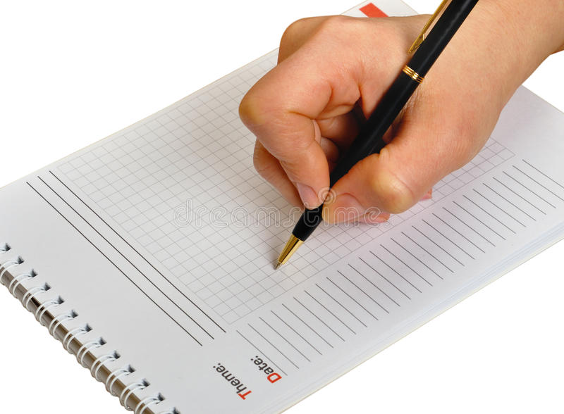 Download Hand Writing stock photo. Image of note, hand, blank - 13324258