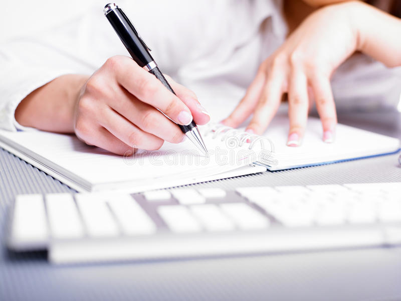 Download Hand Writing stock image. Image of female, fingers, white - 19280585