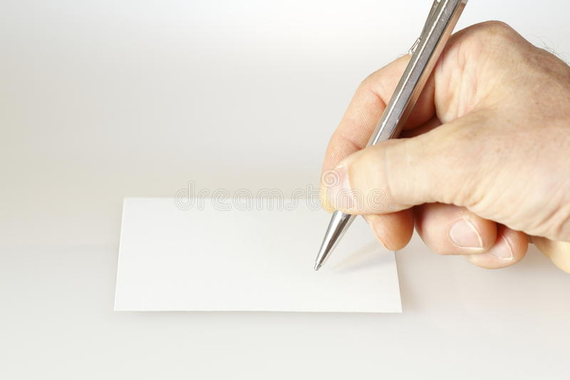 Download A hand is writing stock photo. Image of information, announcement - 20359852