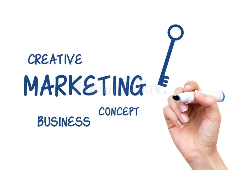 Download Hand Writing Marketing Content Stock Photo - Image: 34556852