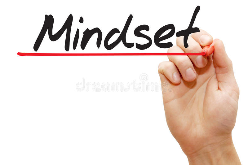 Hand writing Mindset, business concept stock photography