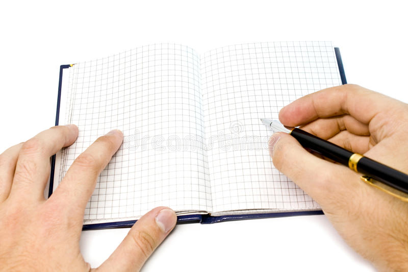 Download Hand writing on a notebook stock image. Image of office - 10714323