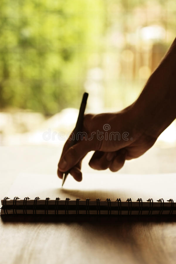 Download Hand writing on notepad stock image. Image of book, spiral - 10166731