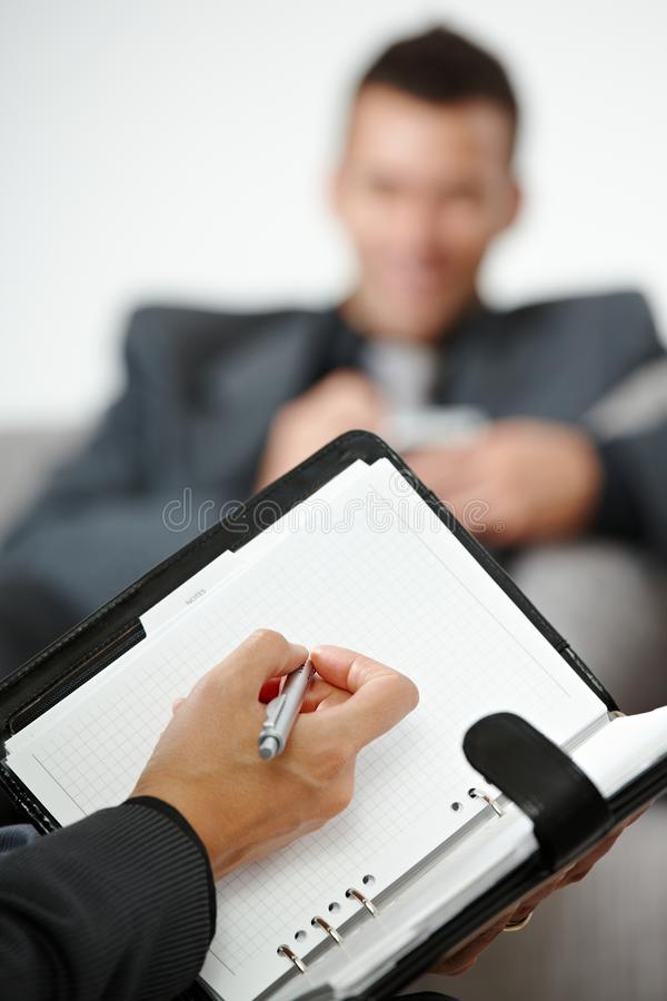 Download Hand writing notes stock photo. Image of office, looking - 11678104